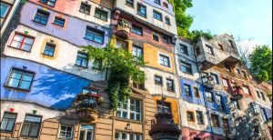 The outside of the Hundertwasser House, Vienna