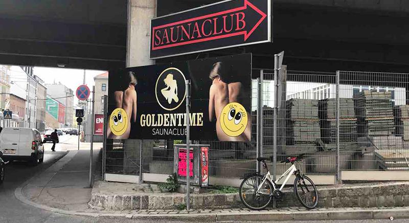 goldentime vienna street sign